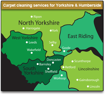 Carpet Cleaninf Services for Yorkshire and Humberside